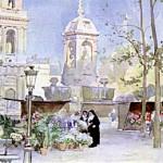 Le Marché aux fleurs de la Place Saint-Sulpice à Paris