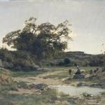 bergere-au-bord dun-etang - grenoble