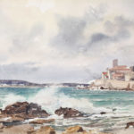 La vague, ciel orageux (Antibes)