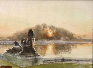 Versailles-soleil-couchant-sur-le-Parterre