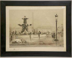 Place de la Concorde - Paris. Gravure de Henri Toussaint d'après Henri Zuber
